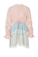 Hemant & Nandita Women's Dress Pink Size Medium M Shift Boho Lace $320- #563