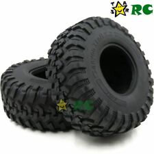 2pc RC 2.2'' Crawler Trail Tires Tyres 130mm Fit Axial Gmade 2.2 Beadlock Wheels