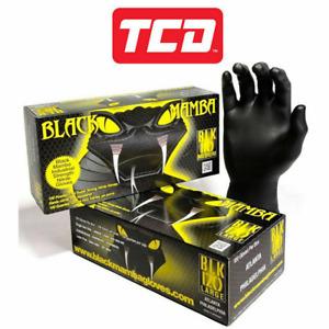 Black Mamba Super Strong Heavy Duty Disposable Mechanics Workshop Nitrile Gloves