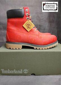 Timberland Premium Waterproof Men boots medium red print size 9.5 men brand new