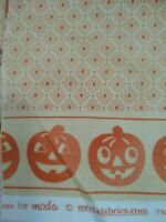 Halloween Pumpkins Muted Orange Cotton 15 in. One-way fabric by Moda 14669