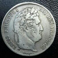Louis Philippe I . 5 Francs 1836 D Lyon