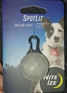Nite Ize SpotLit LED Collar Light Red Carabiner Pet Locator Glows Flashes dog