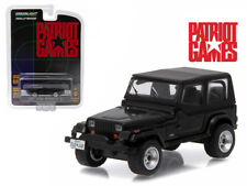 "1987 Jeep Wrangler YJ Black ""Patriot Games"" Movie (1992) 1/64 Diecast Model Car"