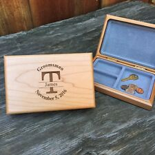 Monogrammed Personalized Engraved Valet Box Groomsmen Wedding Gifts Last Initial