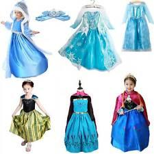 Ребенка ясельного возраста детский девочки Костюм Принцессы Сказка одеть ребенка Анна Эльза одежда
