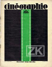 CINEGRAPHIE Photographie DREVILLE Epstein Kodak GANCE Cavalcanti Revue 1927