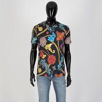 VERSACE 625$ Gioielleria Jetés Print T-Shirt In Black Cotton