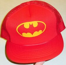 BATMAN Vintage 90s Snapback hat (MESH SIDES & BACK) Brand New -Red Color-