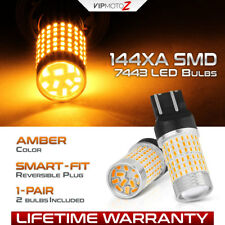 [BRIGHTEST AMBER] 7443 7444 T20 SMD LED Turn Signal Lamp Parking DRL Light Bulbs