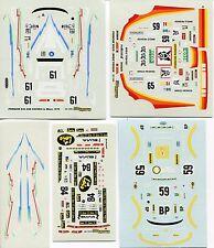 PORSCHE 934 4 VERSIONS COMPLETE  LE MANS  DECALS 1/43