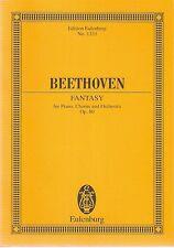 Ludwig Van Beethoven Fantasy Op.80 piano, chorus, orchestra pub Eulenburg No1333