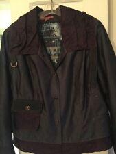 Instantes Voles Blue Denim Blazer Jacket French Size 44 Uk 16 Us 12