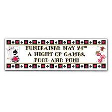 Personalizado Casino Tarjeta Póquer noche Gigante Decoración de la bandera NUEVO