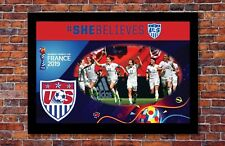2019 Women's World Cup Soccer   TEAM USA Poster   13 x 19 inches