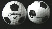 "10 CALLAWAY  ""CHROME SOFT"" - with ""BLACK TRUVIS"" - Golf Balls - ""PEARL/A"" Grades"