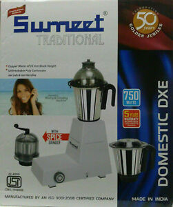 Sumeet Traditional Domestic 110V 750W Mixer Grinder - Usa and Canada Only