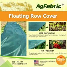 Agfabric Row Cover Plant Blanket 1.5oz Fabric 7x50ft for Frost Protection Green