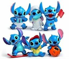 Lilo And Stitch 6 pcs Toy Set Action Figure Cake Topper Doll Birthday Gift