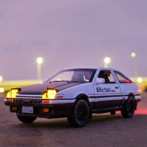 Initial D AE86 Toyota TRUENO 1/28 Model Car Diecast Toy Vehicle Gift Collection