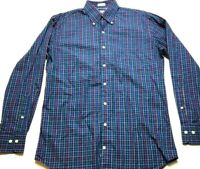 Peter Millar Mens Colorful Plaid Front Pocket Button Front Shirt Size Medium