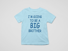 I'm Going To Be A Big Brother Kids Printed Pregnancy Announcement T-Shirt