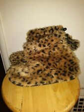 Leopard Print Slippers Women's Size 8 Boots Vintage Ankle High Shoes Animals USA