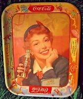 1950's Coca Cola Tray Menu Girl Thirst Knows No Season Have a Coke