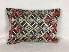 Kilim Cushion Cover 35x50 cm Old Vintage Antique Kelim pillow Boho country house