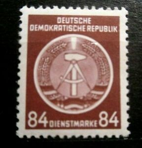 Germany - DDR Sc. O17  84pf Hammer & Compass Official 1954 - MNH