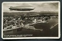 1937 Germany Turners Falls Massachusetts LZ 129 Hindenburg RPPC Postcard Cover