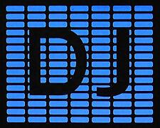 """""""DJ"""" Leuchtfolie Leuchtpanel EL-Panel für T-Shirt Party Diskothek Hit"""