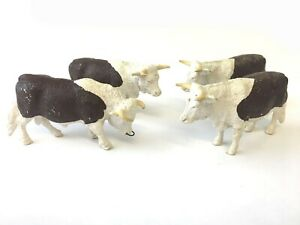 Vintage Britains Hereford Bull and Cows x3.