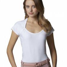 Size 12/14 White Womens Top Ladies Scoop Neck Cap Sleeve KK760 Kustom Kit