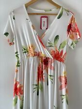 PatPat maternity dress, BNWT, UK Size Small, pretty floral print, short sleeve.