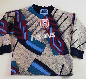 Vintage Ipswich Town 1994 1995 Goal Keeper shirt Umbro Boys Small 140cm 10Y