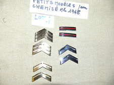 4 Paires GALONS METAL D'EPAULE POUR chemise Mle 1948  Lot 4  NCO SHOULD RANK