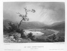 PENNSYLVANIA Susquehanna River - CIVIL WAR Era View Print Engraving