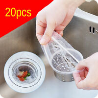 20pcs Kitchen Sink Residue Was Filtered Drain Anti-clogging Garbage Bags Filters