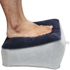 Pillow Cushion Travel Home Relax Reduce DVT Risk on Flights Inflatable Foot Rest
