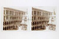 Venezia Italia Foto Amateur Placca Da Lente N8 Stereo Ca 1920