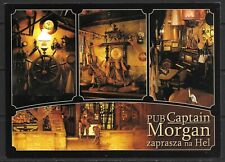 Polish postcard of Captain Morgan Pub, Hel, Poland that is unused