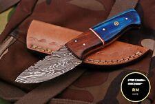 6INCH NEW RM CUSTOM DAMASCUS STEEL FULL TANG HUNTER SKINNER KNIFE WOOD HANDLE 51
