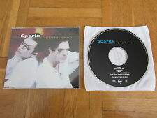 SPARKS The Number One Song OOP 1997 EUROPEAN CD single Jimmy Somerville