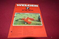 Welger AP38 AP48 Baler Dealers Brochure CDIL