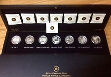 Canada Fine Silver Group of Seven 7-Coin set (2012-2013) - No Tax