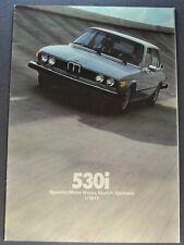 1977 BMW 530i Sales Brochure Folder Excellent Original 77