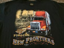 VTG NOS 80s 1989 Truckers Only Forging New Frontiers Shirt 3D Emblem Rare Harley