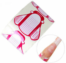 100Pcs Nail Art Tips Extension Forms Guide French DIY Tool Acrylic UV Gel