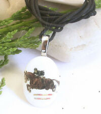 HORSE & WESTERN JEWELLERY JEWELRY LADIES GIRLS  SHOW JUMPING CORD NECKLACE